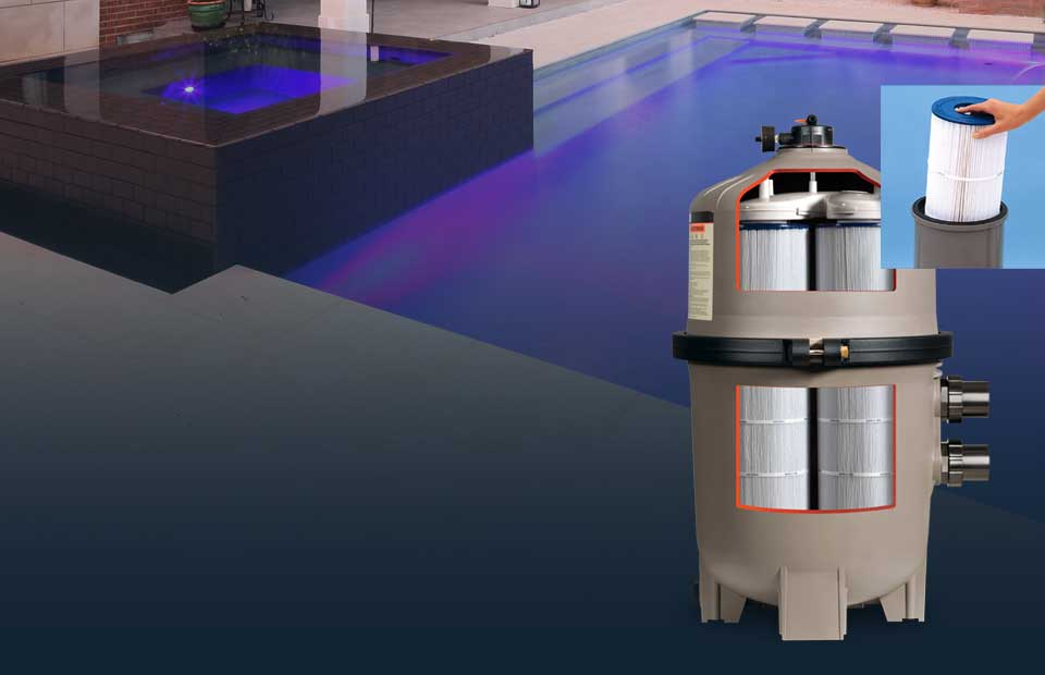 De cartridge sand pool filters hayward pool products for Least expensive inground pool