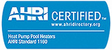 Air-Conditioning, Heating, and Refrigeration Institute (AHRI) Certification