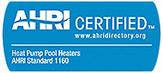 Certifiées par l'Institut de la climatisation, du chauffage et de la réfrigération (The Air-Conditioning, Heating, and Refrigeration Institute, AHRI)