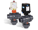 Actuated Three-Way Ball Valves