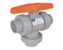 True Union Three-Way Ball Valves